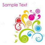 Abstract Background with Colorful Swirls Pattern and Sample Text